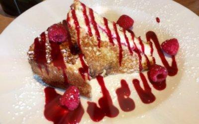 Prasino: Raspberry Stuffed French Toast