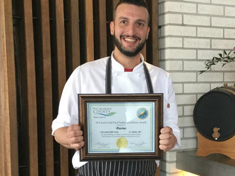 Prasino Won the 2016 24-Carrot Gold Food Service Excellence Award
